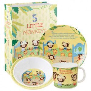 Набор детской посуды Churchill Обезьянки Little Rhymes в коробке 2