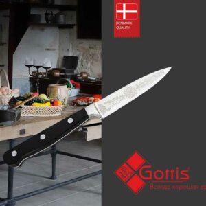 Овощной нож кованый Готтис 2