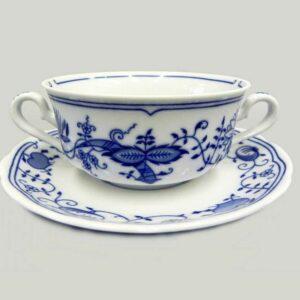 Чашка для супа с блюдцем 350 мл Мэри-Энн Гжель Леандер 0055 2