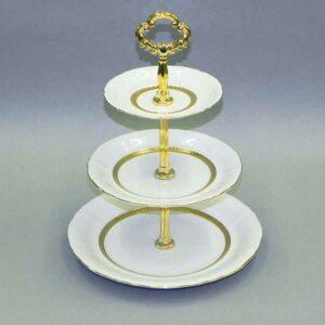 Этажерка для фруктов 30 см уровня Соната Золотая лента Леандер 1239 2