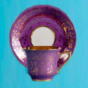 Кофейная пара 100 мл Виндзор Золотые цветы Леандер 0341 2