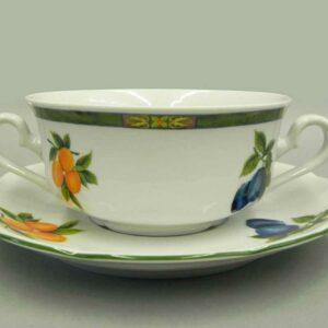 Набор чашек для супа с блюдцами 350 мл Мэри-Энн Фруктовый сад Леандер 080H 2