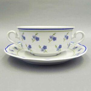 Набор чашек для супа с блюдцами 350 мл Мэри-Энн Синие цветы Леандер 0887 2