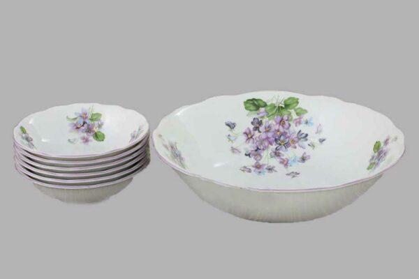 Набор салатников Мэри-Энн Лиловые цветы Леандер 2391 2