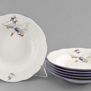 Набор тарелок глубоких 23 см Мэри-Энн Гуси Леандер 0807 2