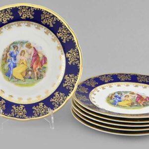 Набор тарелок мелких 19 см Мэри-Энн Мадонна кобальт Леандер 0179 2