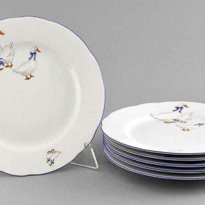 Набор тарелок мелких 25 см Мэри-Энн Гуси Леандер 08072