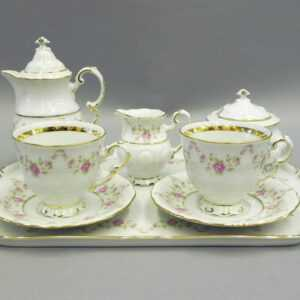 Подарочный набор кофейный мокко Тет-а-тет Соната Мелкие цветы Леандер 0158 2