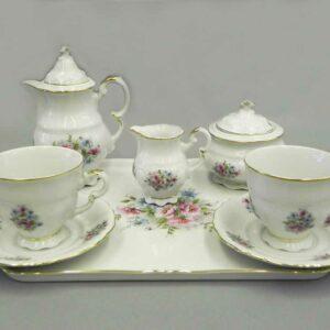 Подарочный набор кофейный мокко Тет-а-тет Соната Розовые цветы Леандер 0013 2