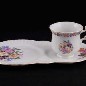 Сервиз чайный для завтрака Моника Букет цветов Леандер 0773 2