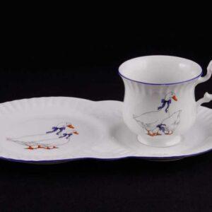 Сервиз чайный для завтрака Моника Гуси Леандер 0807 2