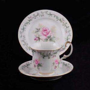 Сервиз для завтрака Моника Бледная роза Леандер 0766 2