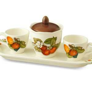 Кофейный сервиз 5 предметов Груша artigianato ceramico2
