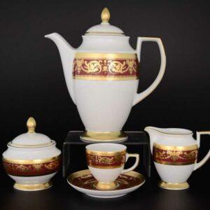 Кофейный сервиз Imperial Bordeaux Gold Falkenporzellan 2