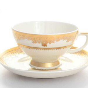 Набор чайных пар 220 мл Cream Gold 9077Falkenporzellan 2