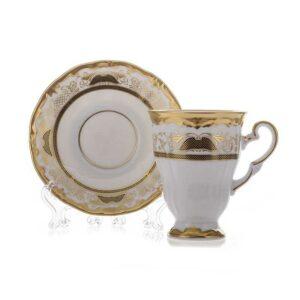 Набор для каппучино 260мл подарочный Веймар Симфония Золотая 2