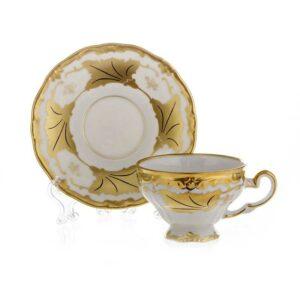 Набор кофейный Веймар Кленовый лист белый 160мл 2