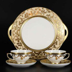 Подарочный набор чайный Tosca Creme Gold Falkenporzellan2