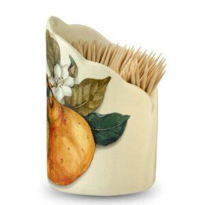 Подставка для зубочисток 8см Груша artigianato ceramico 2