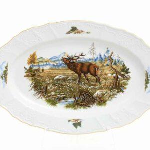 Блюдо овальное 36 см Охота Bernadotte 2
