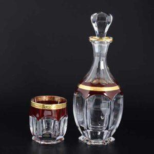 Набор для виски Сафари Рубин Кристалайт Богемия 2