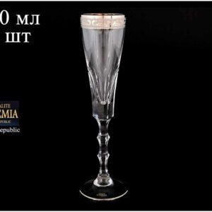 Набор фужеров для шампанского 180 мл ROMANA Кристалайт Богемия 2
