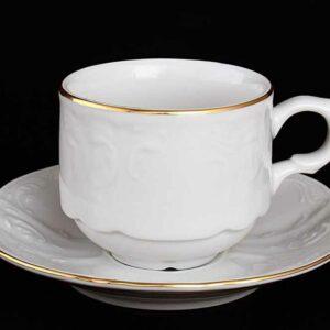Набор кофейных пар 120 мл Белый узор Bernadotte2
