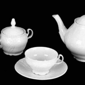 Сервиз чайный Бернадот Недекорированный на 6 персон 2