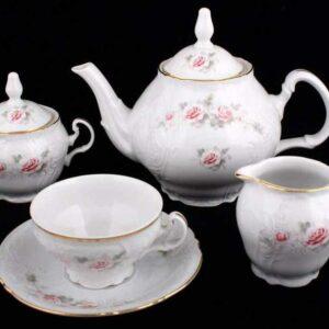 Сервиз чайный Бернадот Роза серая 5396011 на 6 персон 2