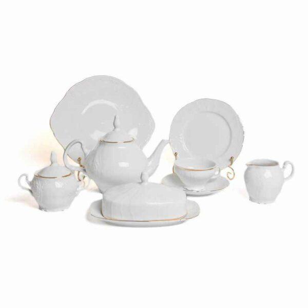 Сервиз чайный Бернадот белый 311011 на 12 персон 2