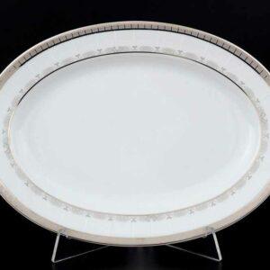Блюдо овальное 24 см Опал Платиновая лента Thun 2