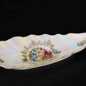 Блюдо (Селедочница) 20 см Мадонна перламутр Корона Queen's Crown 2