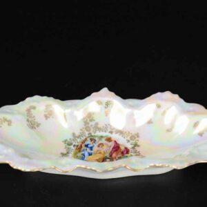 Блюдо (Селедочница) 21 см Корона Мадонна Перламутр Queen's Crown 2