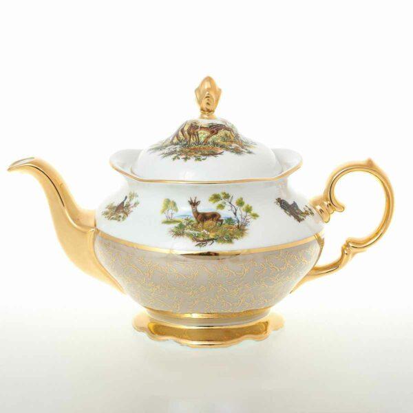 Чайник 12 л Охота Бежевая Sterne porcelan 2