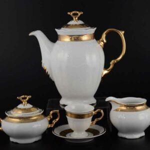 Кофейный сервиз Мария Луиза золотая лента Thun 2