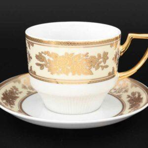 Набор чайных пар 220 мл Луиза Золотая роза Thun 2