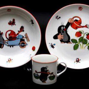 Набор детской посуды Крот садовод Тхун 2