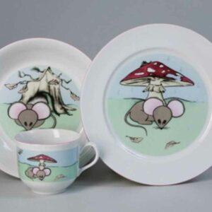 Набор детской посуды Мышенок Тхун 2