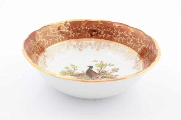 Набор салатников 19 см Охота Красная Sterne porcelan 2