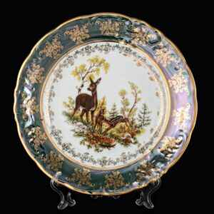 Набор тарелок 25 см Фредерика Охота Зеленая Carlsbad 2
