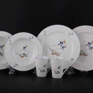 Подарочный набор десертный Констанция Гуси Thun 2
