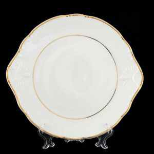Тарелка для торта 27 см Констанция отводка золото Thun 2