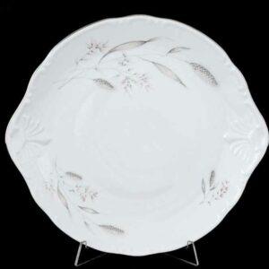 Тарелка для торта 27 см Констанция Серебряные колосья Thun 2