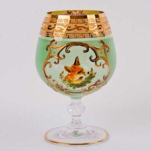 Набор бокалов для коньяка Охота зеленая J-M Bohemia 2