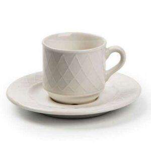 Кофейная пара 90мл Grand Siecle Tunisie Porcelaine 2