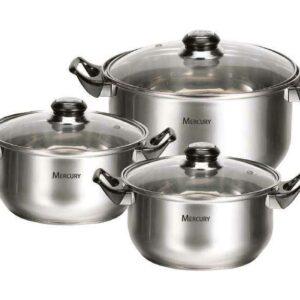 Набор посуды Mercury MC 6016 6 предметов 28/19/13 л 20/18/16 см 2