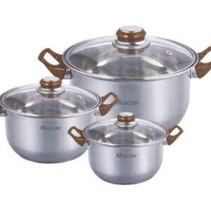 Набор посуды Mercury MC 6018 6 предметов 28/19/13 л 20/18/16 см 2