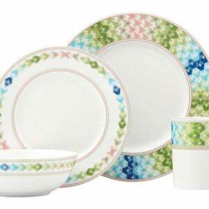Сервиз чайно-столовый Lenox Праздник 365 1/4 зелёный синий Lenox 2
