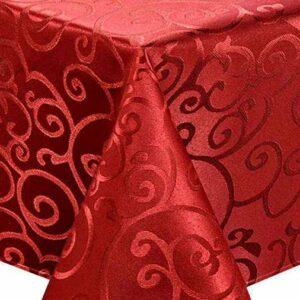 Скатерть 150х230см Версаль красная Harman 2