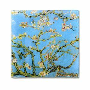 Тарелка квадратная Цветущий миндаль Ван Гог Carmani2